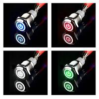 Druckschalter LED Beleuchtet 16mm/19mm 12V Schalter Drucktaster rastend Taster