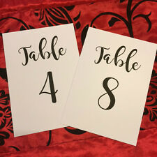 wedding table number cards table numbers 1-10 table centrepiece wedding numbers