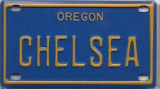 CHELSEA Blue Oregon - Mini License Plate - Name Tag - Bicycle Plate!