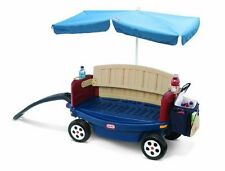 Little Tikes Deluxe Ride & Relax WAGON, 2 Person Pull Along KIDS WAGON BENCH