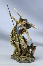 "12"" ST MICHAEL THE ARCHANGEL Figurine Statue Joseph's Studio Slaying Demon 40726"