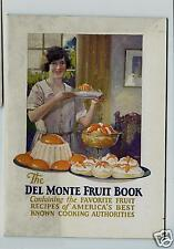 Del Monte Fruit Book 1926 Illustrated Recipe Booklet California Packing Co