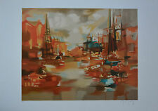 "Marcel Mouly ""AMSTERDAM CHAUD"" Limited Edition Signed Numbered Lithograph  + COA"