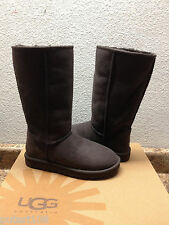 UGG CLASSIC TALL CHOCOLATE FULLY FUR LINED SUEDE Boot US 9 / EU 40 / UK 7.5
