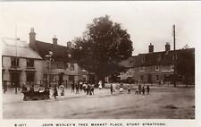 Market Place John Wesley Stony Stratford RP old pc used 1909 WHS Kingsway S1077