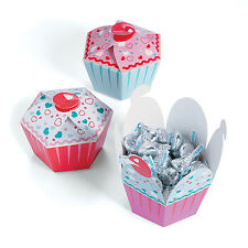 12 CUPCAKE SHAPED CUPCAKE Valentine's Day Boxes Gift Party Favor Loot Treat