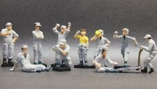 CM'S 1/64 Engineer Figure 10 Pcs Diorama display Kyosho Tomica Tomytec Hotwheels
