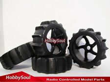 4pcs New RC 1:8 Baja Buggy Hex 17mm Wheels & Snow Sand Paddle Tires for HPI