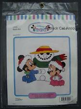 Disney Babies Baby Mickey & Minnie Frosty Christmas Cross Stitch Item 32021 NOS