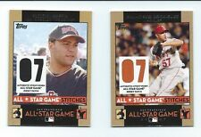 2007 Toops  BASEBALL Update All-Star Stitches 2 Card Lot Russell Martin