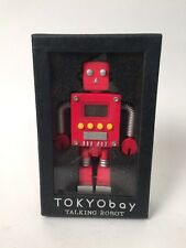 "Vtg Diecast Tokyo Bay Talking Robot Digital Alarm Clock 4.5"" New in Box"