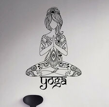 Yoga Namaste Wall Vinyl Decal Hindu India Yoga Vinyl Stickers Home Interior 4