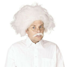 EINSTEIN WHITE #WIG MAD PROFESSOR SCIENTIST  FANCY DRESS