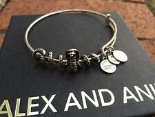 RARE! ALEX and ANI COBRA Serpent Snake CHARM Russian SILVER Bangle Bar BRACELET