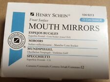 Dental Henry Schein  Mouth Mirror front surface Cone Socket #3  12/Box , Miltex