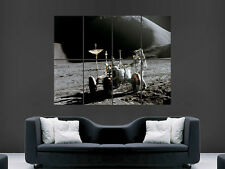 SPACE THE MOON ASTRONAUT   DIGITAL  ART WALL LARGE IMAGE GIANT POSTER !!