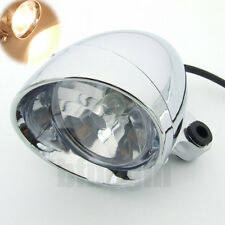 Universal Motorcycle Chrome Headlight Head Lamp For Honda Yamaha Suzuki Kawasaki
