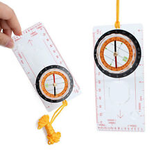 Baseplate Ruler Map Scale Scouts Compass Magnifier Protractor for Hiking Camping