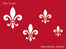 Shabby STENCIL Fleur De Lis French Flower Chic Decor BSA Scout Signs U Paint