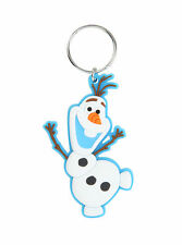 Disney FROZEN Olaf Snowman Soft Touch Rubber PVC Charm Key Ring Chain Keychain