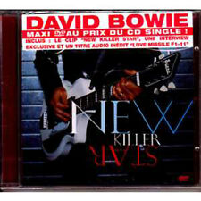 David BOWIE New killer star 3-track jewel case DVD MAXI single FRENCH STICKER CD