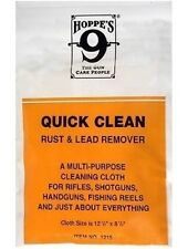 hoppes no 9 Quick clean rust and lead remover cloth - rifle shotgun fishing reel