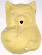 "Reproduction McCoy Pottery Yellow Cat Pattern 5.5""t String Or Yarn Holder"