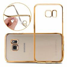 Slim Gold Transparent Soft Silicone Gel Case Cover Skin For Samsung Galaxy S6