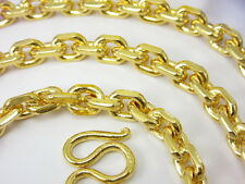 CLASSIC THAI ANCHOR LINK 27 inch BAHT CHAIN HEAVY NECKLACE 22K 24K Gold GP B-55