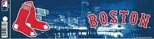 BOSTON RED SOX OFFICIAL MLB VYNL BUMPER STICKER / DECAL