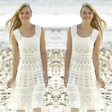 Summer Ladies Beach Casaul Elegant Sundress Sexy Crochet Cover Up Bathing Dress