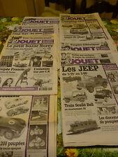 """lot """" La vie du jouet """" 2000,  !!jeeps ,trains,poupée francie barbie,clowns etc."""