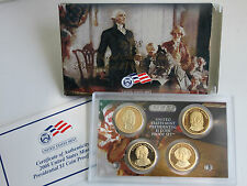 2008 S Presidential $1 Coin Proof Set 4 Dollars Box & COA as Issued
