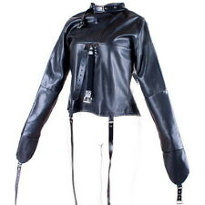 Women's Straitjacket PU Leather Strict Bondage Kinky Straight Jacket Kinky ER