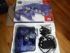 Nintendo 64 N64 complete in box system w/expansion pack Funtastic grape purple