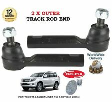 FOR TOYOTA LANDCRUISER 150 3.0DT D4D 2009- NEW 2x OUTER TIE TRACK ROD END SET