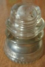 Vintage Clear Glass Hemingray # 42 Electric Power Pole Insulator USA