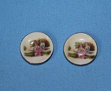 Vtg Doll House Miniature China Plate Set Japan Kitchen Wall Furniture Accessory