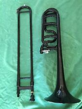 New Plastic Trombone Black key Bb/F  Good Music Gift