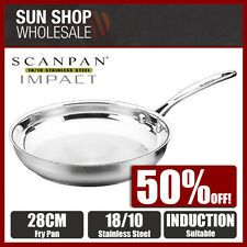 100% Genuine! SCANPAN Impact 18/10 Stainless Steel 28cm Frypan! RRP $115.00!