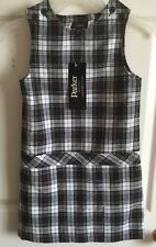 Parker School Uniform Size 6 Girls Navy Blue White Checker New With Tags