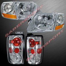 1997-2002 FORD EXPEDITION CHROME HEADLIGHTS + CORNER + ALTEZZA TAIL LIGHTS COMBO