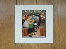 "BERYL COOK""CAFE DE LOPERA"" MOUNTED CARD 8 X 8 FUNNY"