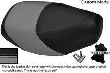 GREY& BLACK CUSTOM FITS PIAGGIO TYPHOON 50 125 OLD SHAPE DUAL LEATHER SEAT COVER