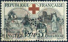 FRANCE AU PROFIT DE LA CROIX ROUGE N° 156 AVEC OBLITERATION ET PERFORATION