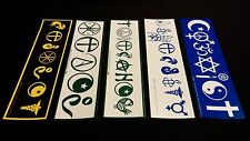 5 Pack Standard Size COEXIST TOLERANCE PEACE Theme Bumper Stickers - VINYL DECAL
