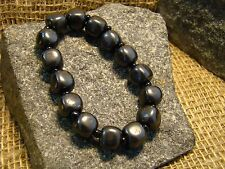 Shungite bracelet cubes with an elastic band from Karelia aura of magic stone.