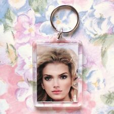 100x Blank Acrylic Keyrings 59x43mm Frame & 50x35mm Photo Size (key ring) 92033