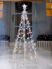 7ft Twinkle Cone Christmas Tree Yard Decor 140 Multi-Color Lights