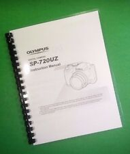 COLOR PRINTED Olympus Camera SP-720UZ SP720UZ Manual User Guide 76 Pages.